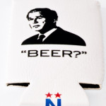 george bush beer koozie